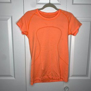 Lululemon Orange Swiftly Tech Tee Size 10